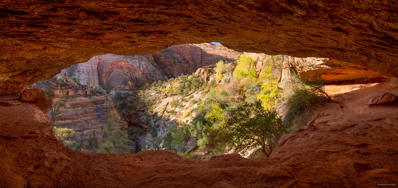 Cave view, Canyon overlook trail - Zion