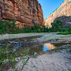 Footprints in the sand at Zion.