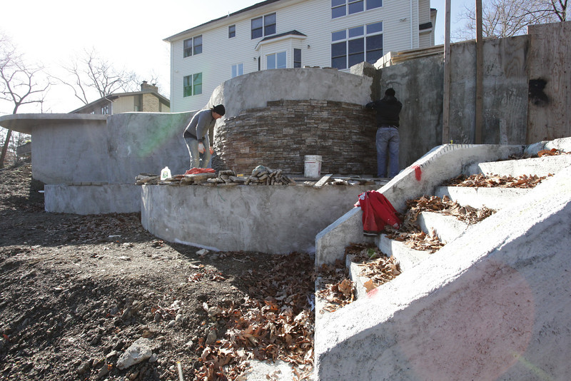 Stone Veneer Progress (1)
