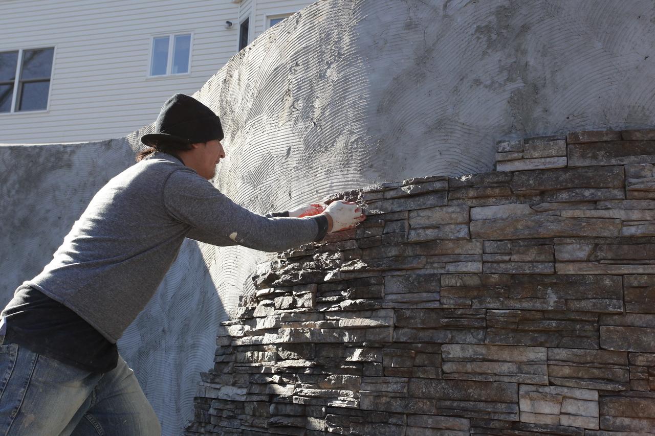 Stone Veneer Progress (2)