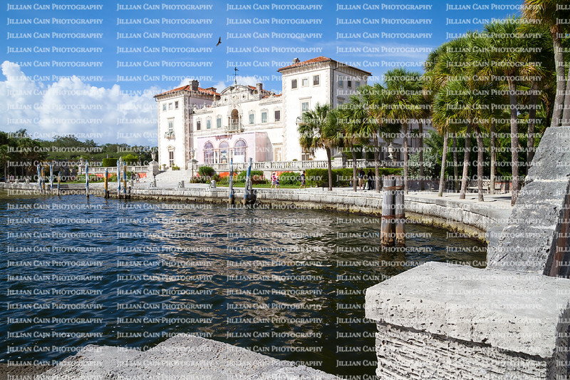 Visitors tour the renaissance-style Vizcaya Museum and the Deering boat landing area.