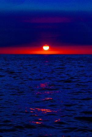 Sunset at Sea, Hawaii