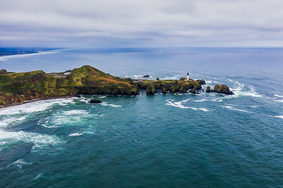 Yaquina Head Lighthouse Side Angle