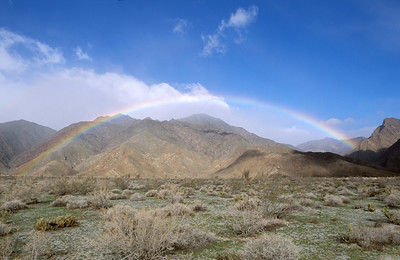 Rainbow, Borrego State Park, Ca