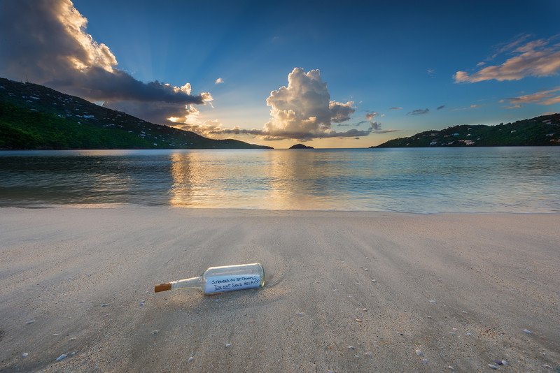 Message in Bottle at Magens Bay, St Thomas USVI