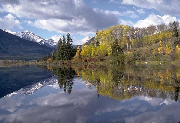 Reflection, Vermillion Lakes, Banff, Canada