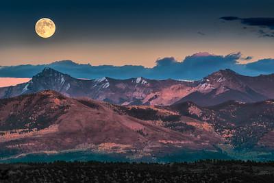 Dallas Divide Moonrise, Colorado