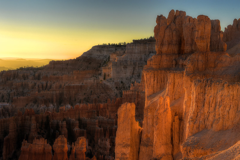 Sunrise at Bryce Canyon National Park in Utah