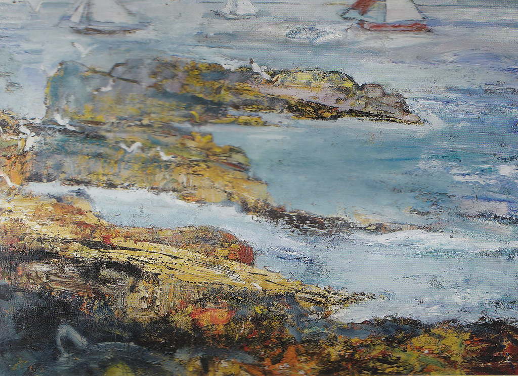 Peter McLaren, Skipi Geo, Orkney. Oil on Board, 48 x 66 inches. Aberdeen Asset Management Collection, New York.