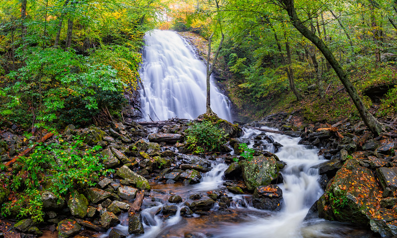 Crabtree Falls - Pisgah National Forest - NC - Panorama