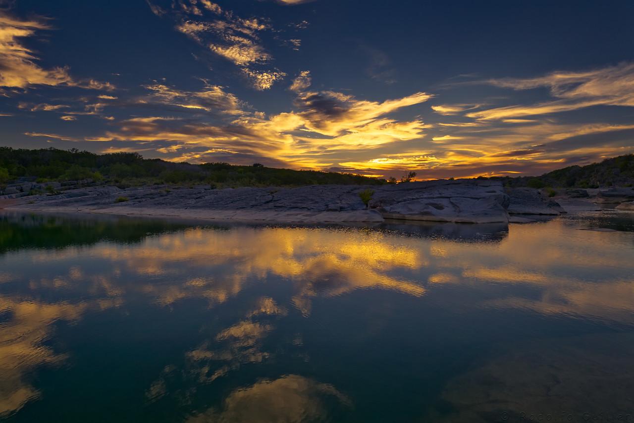 Sunset At Pedernales