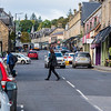 Busy Main Street Pitlochry Scotland