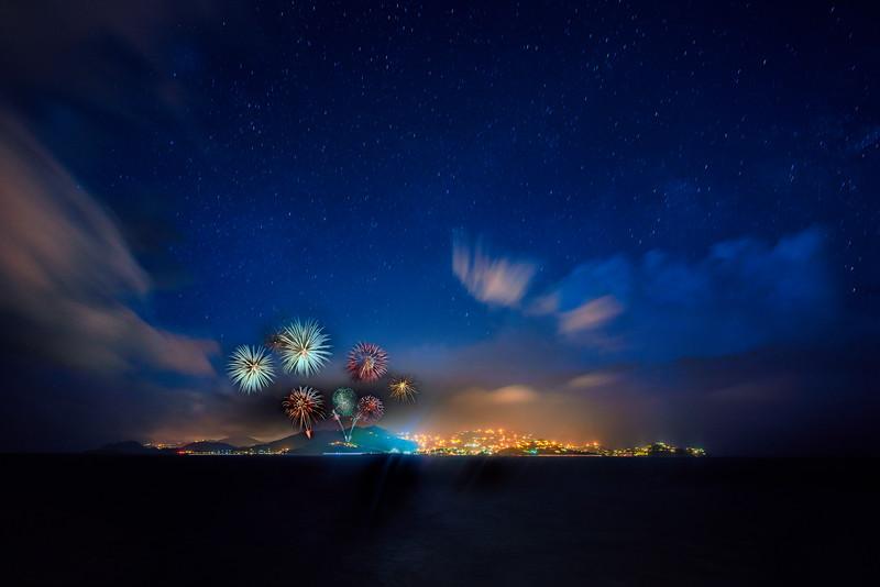 Fireworks over St John, USVI