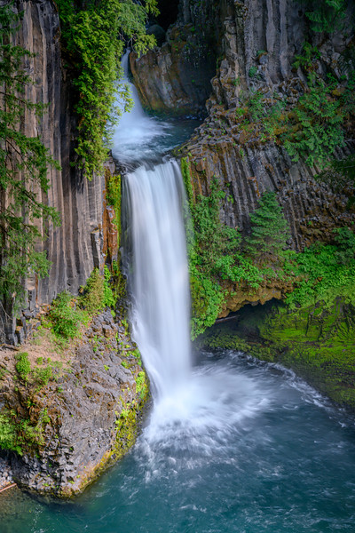 Toketee Falls in the Umpqua River Basin, southwest Oregon