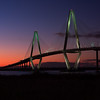 The beautiful and massive Arthur Ravenel Bridge that spans the intercoastal waters in Charleston, South Carolina.