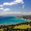 Waikiki, Oahu - as seen from Diamond Head Crater top