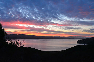 First light, Tomales Bay, California.