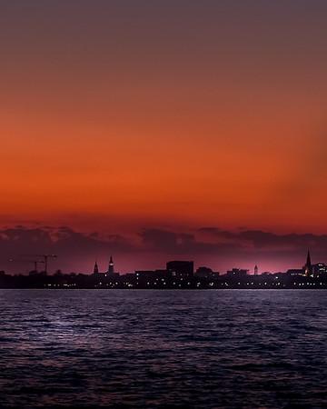Charleston Harbor at Sunset