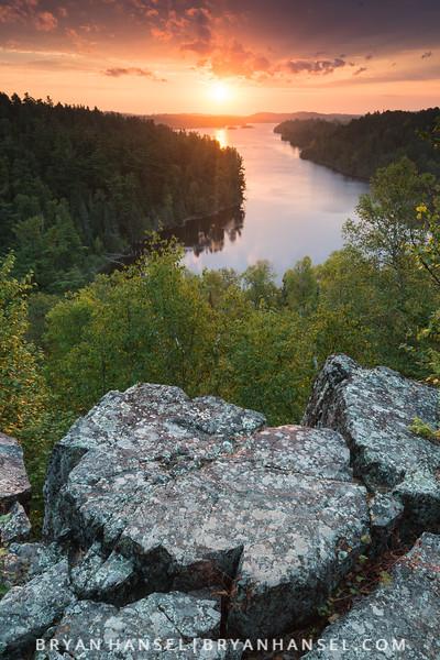 Sunrise over West Bearskin