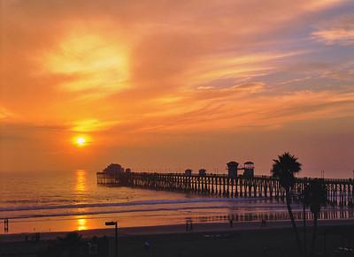 Sunset Oceanside Pier, Oceanside, Ca