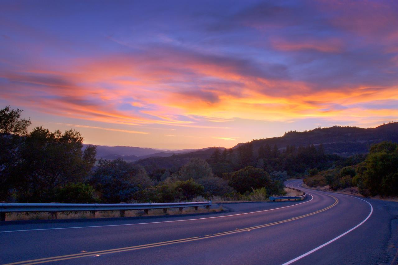 Sky on Fire – Napa Valley, California