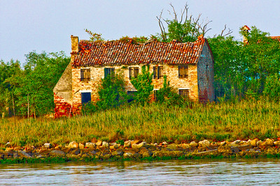 Venice, Italy - A house on one of the many islands outside Murano in Italy