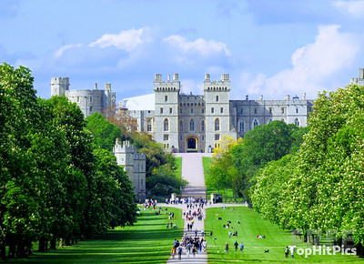 Windsor Castle On The Long Walk, Windsor, Berkshire, England
