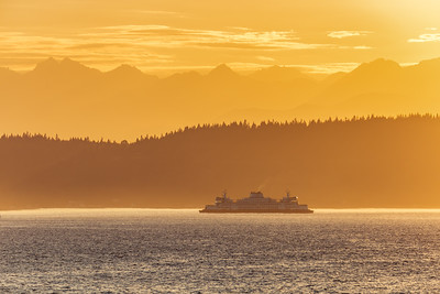 Mukilteo Ferry Sunset