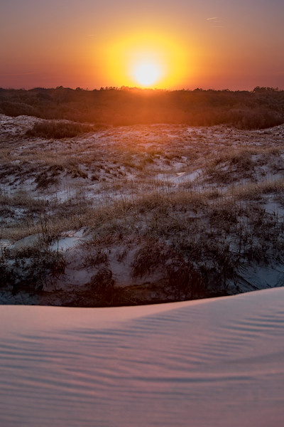 Sunset over the  Corolla Dunes