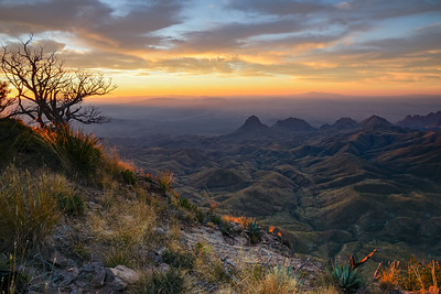 South Rim, Chisos Mtns at sunrise