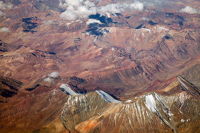 Flying north - Chile Flying north into the Atacama desert