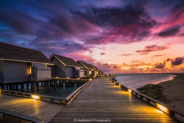 Sunset at the Maldives