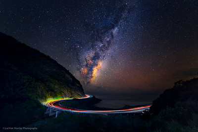 Great Ocean Road Milky Way rise