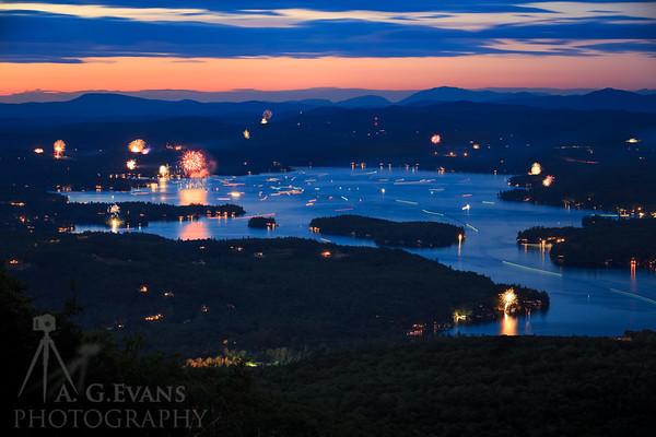 2017 Lake Sunapee Fireworks