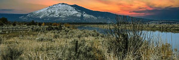 saddle mountain sunset ...