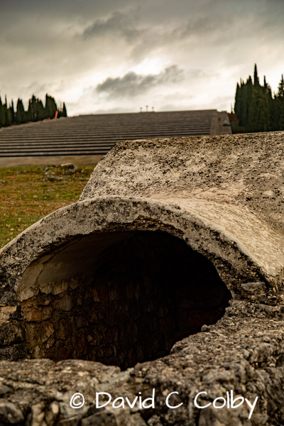 Trench and Memorial to Italian Fallen in World War I