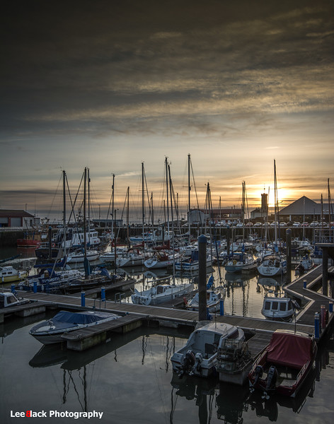 Sunset at Arbroath Harbour...