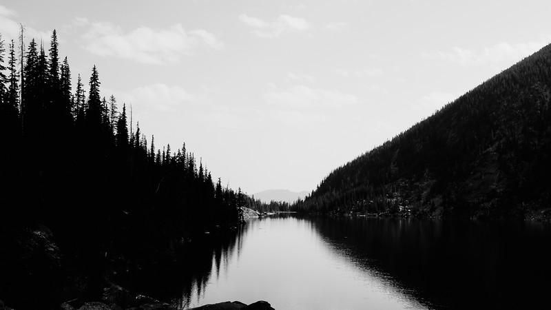 Shadows on Colchuck Lake