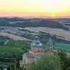 Sunset as seen from the Montepulciano