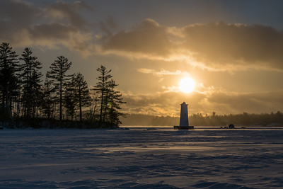Herrick Cove Light at Sunset