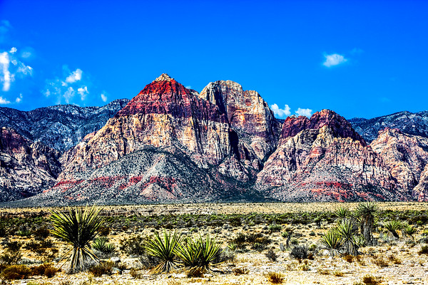 Red rock mountain,