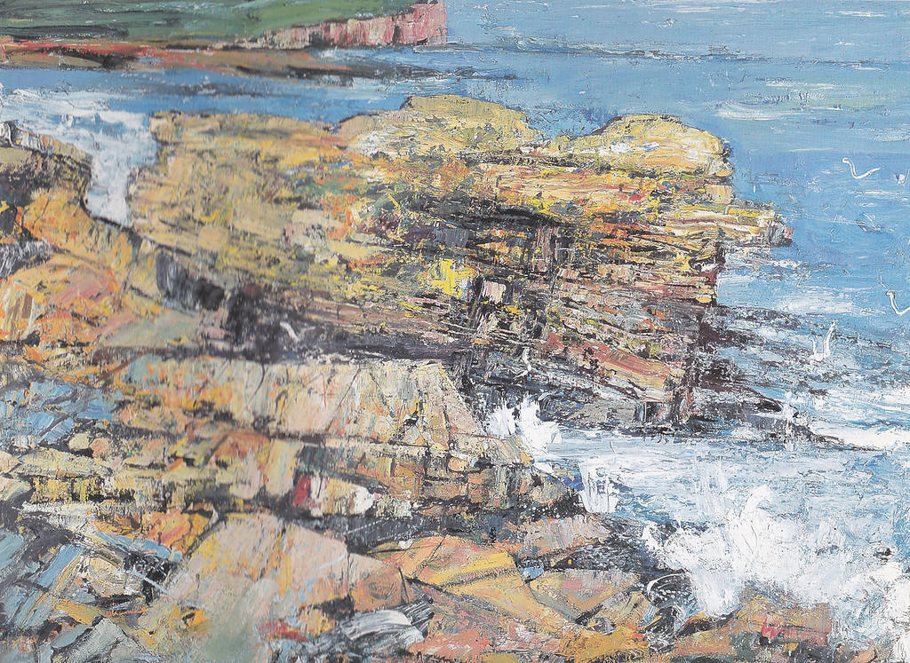 Peter McLaren, Skipi Geo, Orkney. Oil on Board, 60 x 48 inches