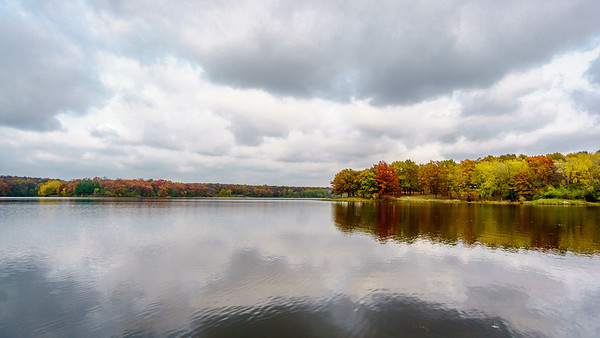 Cloudy Autumn Blues on the Lake