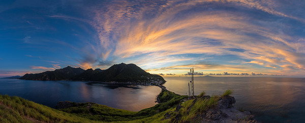 Sunrise over Scottshead, Dominica