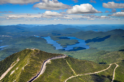 Whiteface and Lake Placid aerial 812