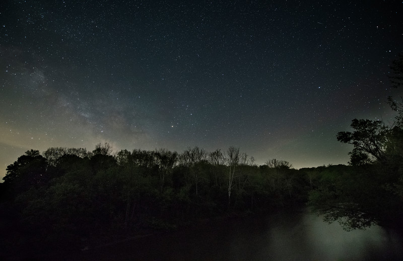 Milky Way Galaxy over Sugar Creek, Indiana