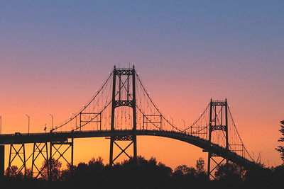 Thousand Islands Bridge at Sunset