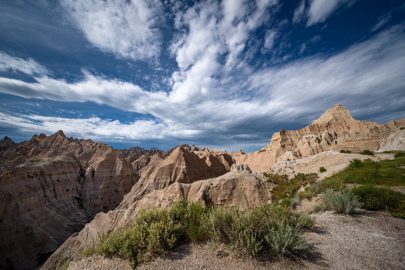 Clouds over the Badlands, Badlands National Park, South Dakota