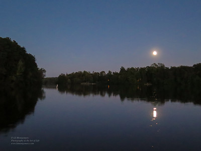 Harvest Moon Over Lake Jeanette