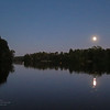 Harvest Moon Over Lake Jeanette